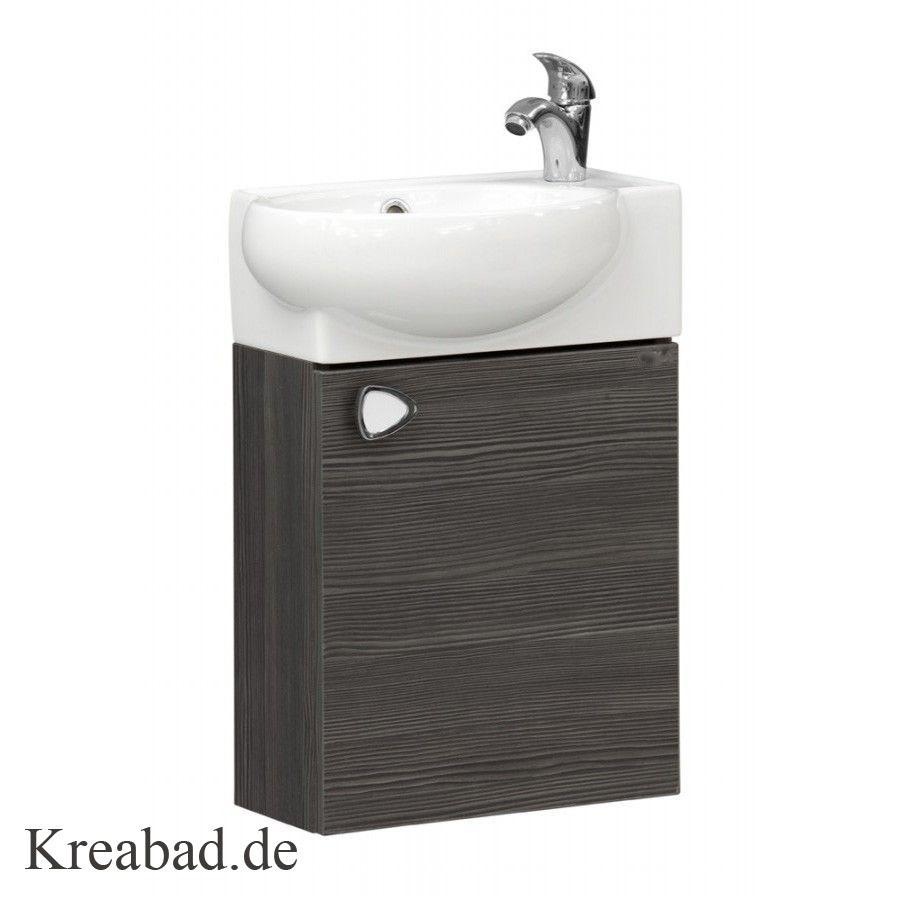 Badmöbel Unterschrank Riva 44x28cm Unterschrank mit Keramik Waschbecken für  Kleine Bäder