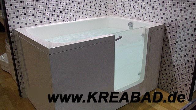 sitzbadewanne mit t r badewannen mit t r barrierefreie badewannen mit einstieg badshop. Black Bedroom Furniture Sets. Home Design Ideas